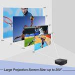 Artlii Vidéoprojecteur Full HD, Rétroprojecteur 3500 Lumens, Supporte Le 1080p, Compatible Chromecast, Clé USB, iPhone, PC, Console de Jeu Regarder Football, Jeux Video, Films de la marque Artlii image 2 produit