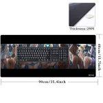 Beyme Tapis de Souris Gaming, XXL Grand Gamers Mousepad & Tapis Clavier Tapis de Bureau- Taille: 900x400 mm (90x40 Sexy Hips002) de la marque Beyme image 1 produit