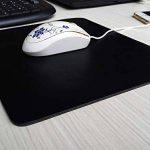 CONISY Tapis de Souris Gaming et bureautique Mousepad de Cuir (Noir,S) de la marque conisy image 1 produit