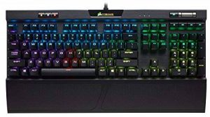 Corsair K70 RGB MK.2 SILENT Clavier Mécanique Gaming (Cherry MX Silent, Rétro-Éclairage RGB Multicolore, AZERTY) Noir de la marque Corsair image 0 produit