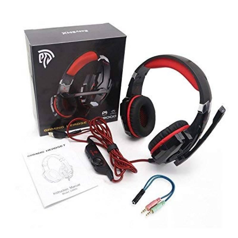 78d1208d636 EasySMX Micro Casque PS4 Gaming, Casque Audio Stéréo Basse avec LED  lumière, Casque Gaming bien Anti-Bruit, Casque Gamer Confortable Compatible  pour PS4/PC/ ...