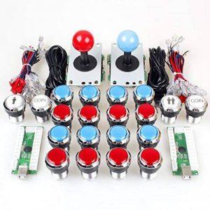 EG STARTS 2 joueurs classic Arcade Contest DIY Cabinet Kit USB Encoder à joystick jeux pour PC + plaqué Chrome LED Boutons monnaie Illuminati pour Mame Raspberry Pi projet de jeu de la marque EG STARTS image 0 produit