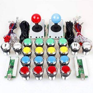 EG Starts 2 joueurs classique Arcade Contest Kit de bricolage USB Encoder Pour PC Joystick + Chrome LED éclairé bouton 1 et 2 joueurs Boutons monnaie pour arcade Mame Raspberry Pi 2 3 3B de la marque EG STARTS image 0 produit