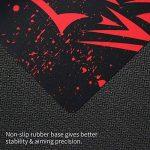EXCO Red Leopard Extra Long Large XL Gaming Tapis de bureau Tapis de protection en caoutchouc antidérapant Tapis de souris avec motifs pour bureau et joueurs de la marque EXCO image 4 produit