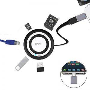 ICZI USB Hub, Hub USB 3.0 Multifuntion, avec 2 Ports USB 3.0, Ethernet, Lecteur de Carte TF/SD et Adaptateur USB 3.0 vers USB C pour MacBook Pro 2017, Dell XPS13, HP Spectre X360 et Plus de PC USB de la marque ICZI image 0 produit
