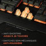 Konix WoT K-50 - Clavier Gamers AZERTY Retro Éclairé Orange - Anti Ghosting - Clavier Semi-Mecanique Gaming Pour PC, Mac - Repose Poignet - Clavier Gamer LED Filaire de la marque Konix image 2 produit