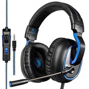 Micro Casque Gaming PS4, Sades R4 Casque Gamer avec Contrôle Volume Premium Anti Bruit Audio Stéréo Basse Compatible pour PC Xbox One Laptop Tablette et Tous les Smartphone de la marque Sades image 0 produit