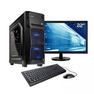 """Sedatech Pack PC Gamer Casual AMD Ryzen 3 2200G 4X 3.5Ghz, Radeon Vega 8, 8 Go RAM DDR4, 240 Go SSD, 1 to HDD, WiFi, Moniteur 21.5"""", Win 10 de la marque Sedatech image 0 produit"""
