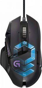 Souris gaming RVB personnalisable Logitech G502 Proteus Spectrum avec 11 boutons programmables, 200-12000 ppp - Noir de la marque Logitech image 0 produit