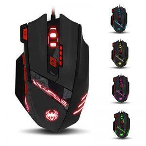 Zelotes T90 Souris Gaming 1000-9200 DPI Réglable, 8 Boutons, Poids Tuning, 6 LED Couleur Options de la marque Zelotes image 0 produit