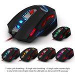 Zelotes T90 Souris Gaming 1000-9200 DPI Réglable, 8 Boutons, Poids Tuning, 6 LED Couleur Options de la marque Zelotes image 1 produit